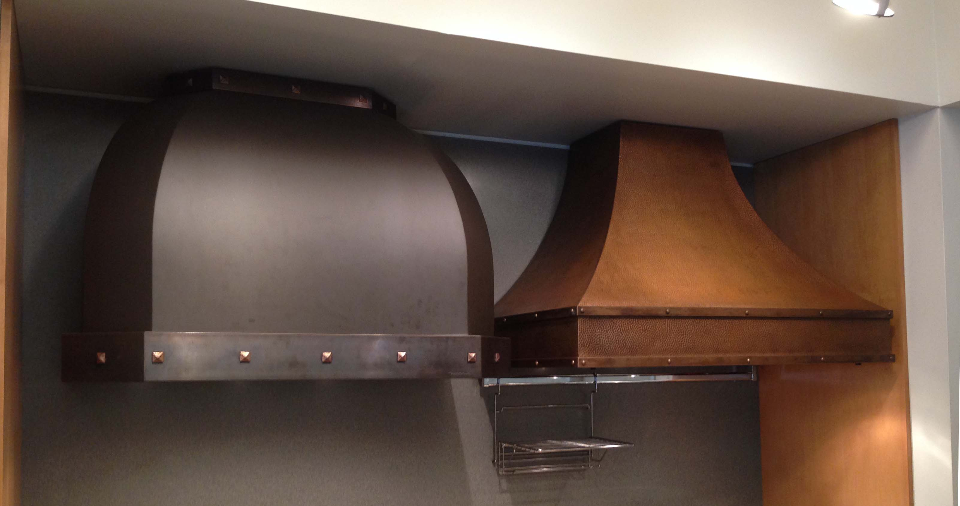 Examples of Ventahood's Designer Series Hoods.  These are super customizable.