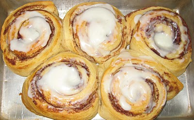 The Cinnamon Rolls turned out great and were quickly devoured by the sales staff.