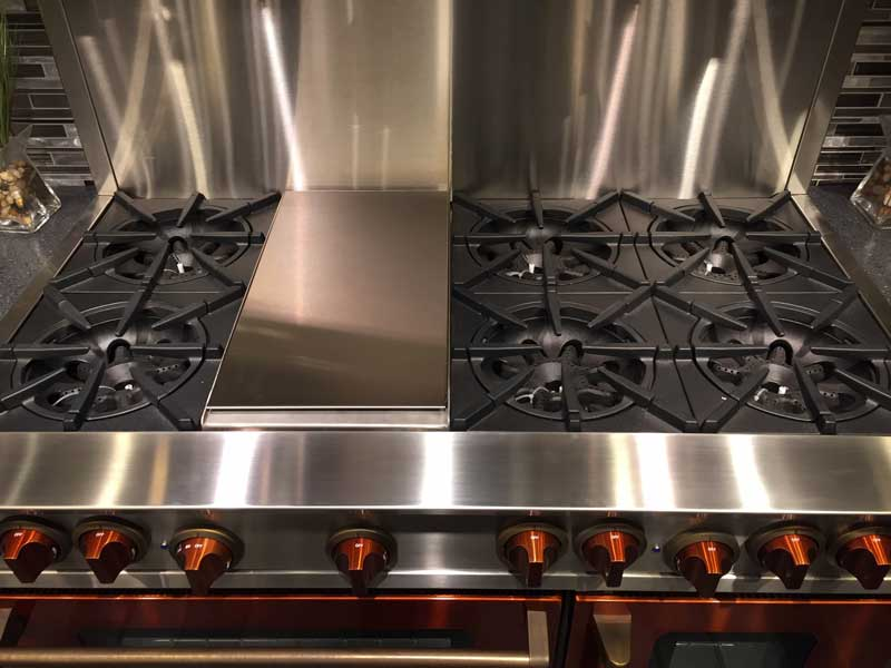 """BlueStar 48"""" Range Burners with Griddle"""