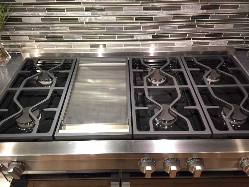"Miele 48"" Range Burners with Griddle"