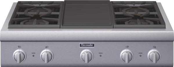 """thermador 36"""" rangetop with griddle PCG364GD"""