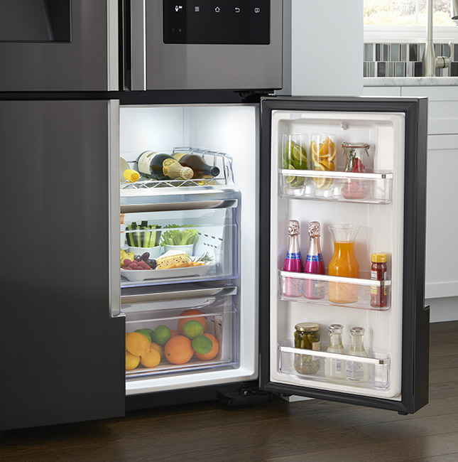 samsung flexzone refrigerator freezer compartment