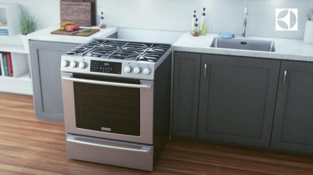 electrolux front control ranges