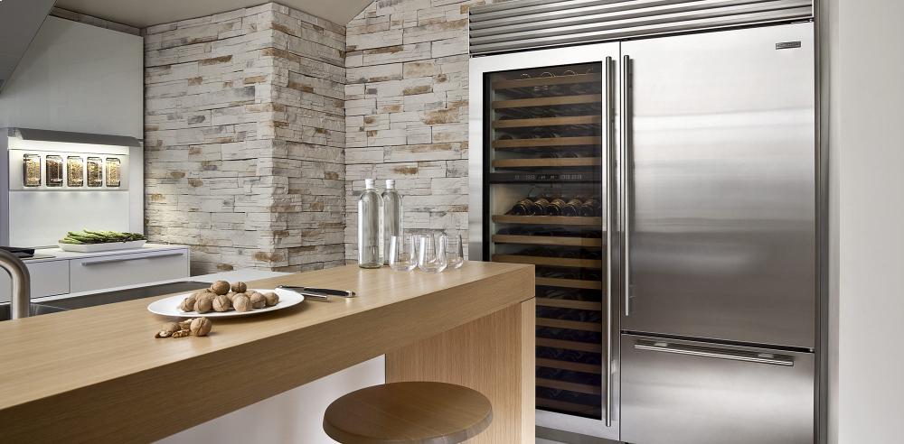 subzero bi36 stainless refrigerator kitchen