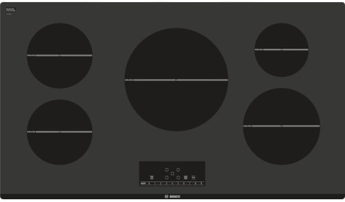 Bosch has a decent induction with 5 burners and 3600 Max output on their middle burner.