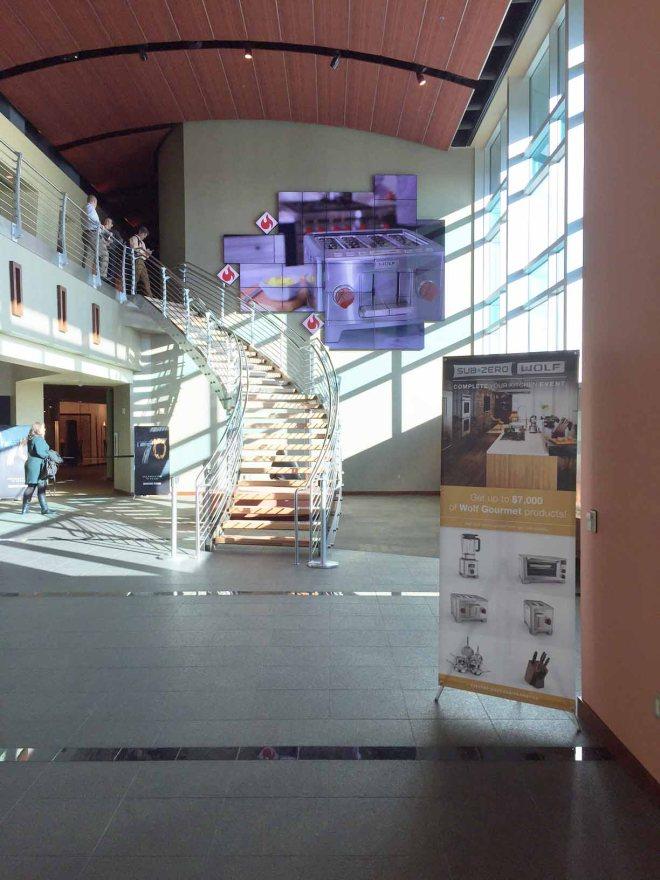 The entrance to the Westye F. Bakke Center.