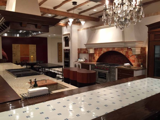 One of the demo kitchens at the Westye F. Bakke Center