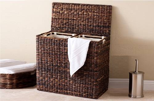 BirdRock Home Oversized Divided Hamper with Liners