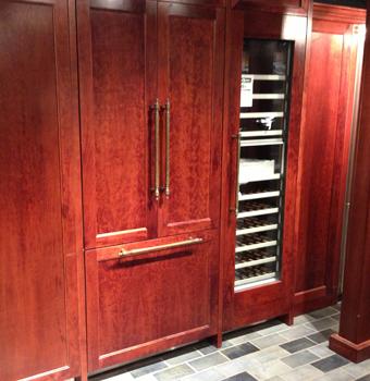 counter depth integrated refrigerator display