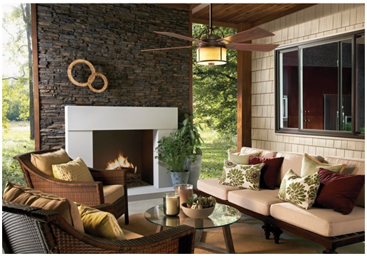 outdoor living room ceiling fan
