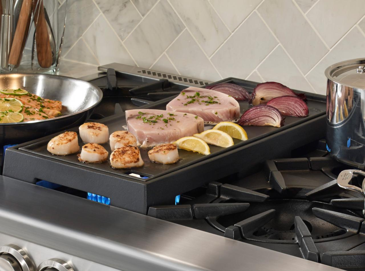 bluestar range reversible grill and griddle