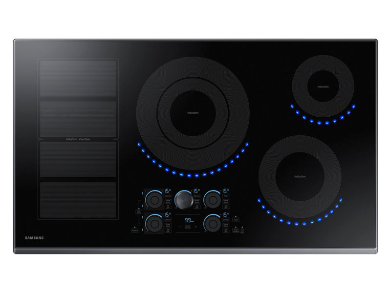This is a good unit with a 4800 watt middle burner and an elongated griddle burner. It is the only Wi-Fi enabled cooktop. The blue lights simulate flame when it is on.