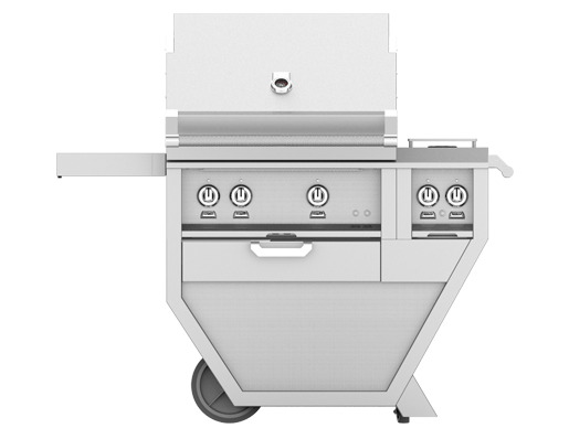 hestan outdoor bbq grill in stainless